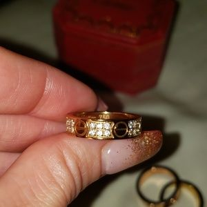 Cartier rose gold size 7